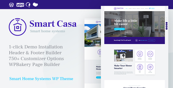 Smart Casa | Home Automation & Technologies WordPress Theme - Technology WordPress