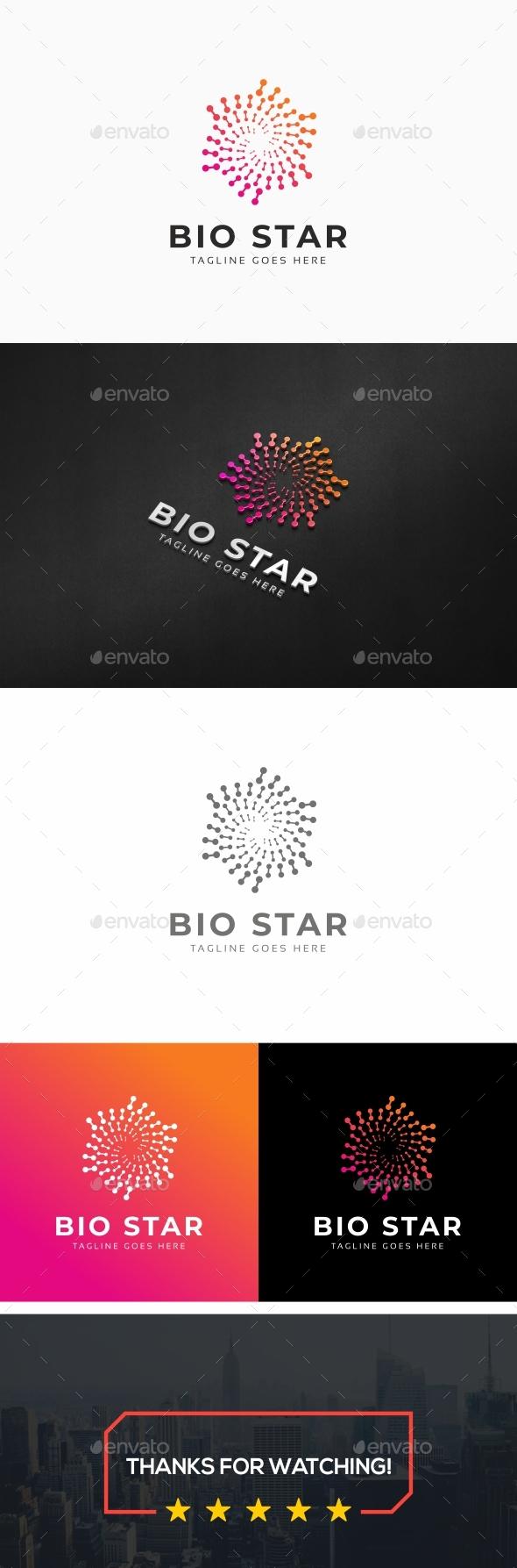 Bio Star Logo - Symbols Logo Templates
