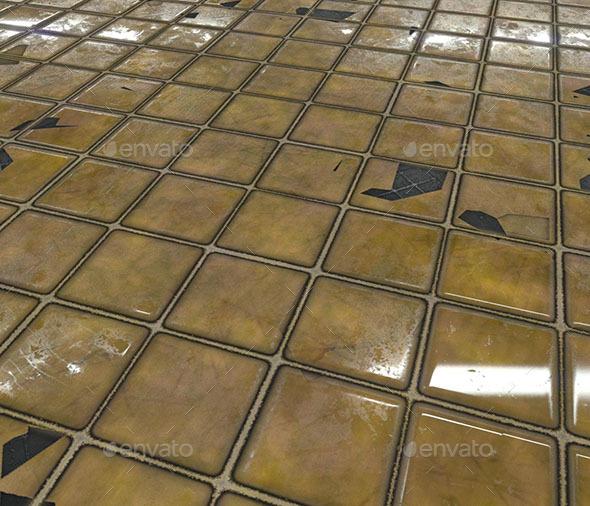 Broken Tiles - 3DOcean Item for Sale