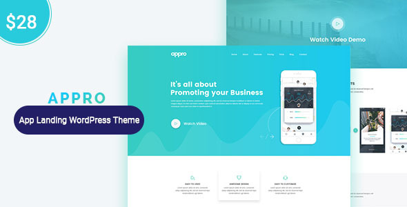 Appro App Landing Page WordPress Theme