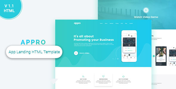 Appro App Landing Page - Technology Site Templates
