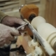 Carpenter Working on the Machine Grind Out Piece of Wood - VideoHive Item for Sale