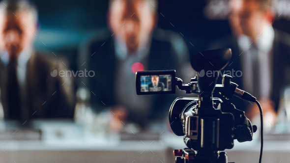 Camera At Press Conference - Stock Photo - Images