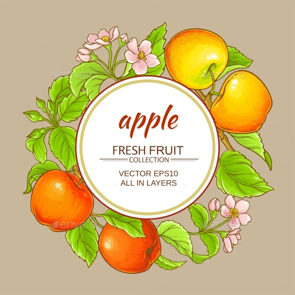 Apple Vector Frame - Food Objects