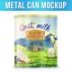 Metal Can Mockup