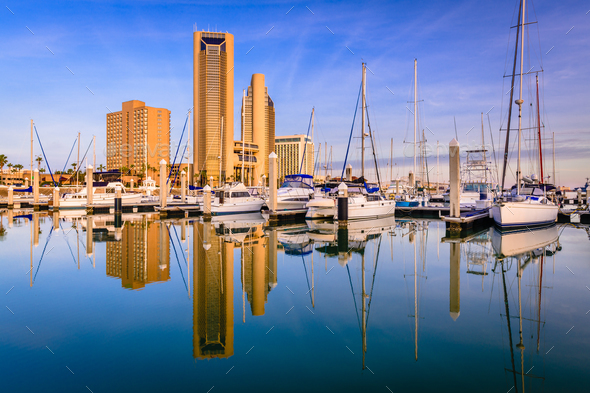 Corpus Christi, Texas, USA Skyline - Stock Photo - Images