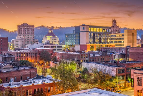 Asheville, North Caroilna, USA Skyline - Stock Photo - Images