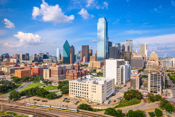 Dallas, Texas, USA Skyline - Stock Photo - Images