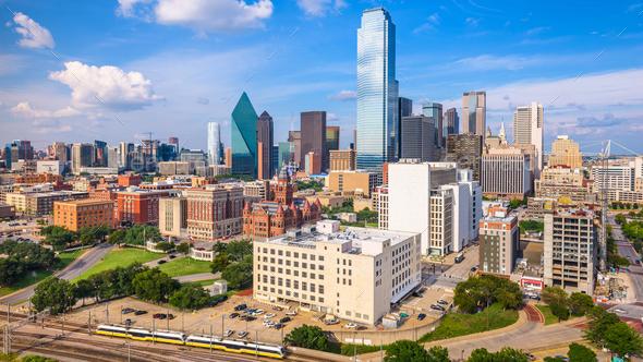 Dallas, Texas, USA Skyline - Stock Photo - Images