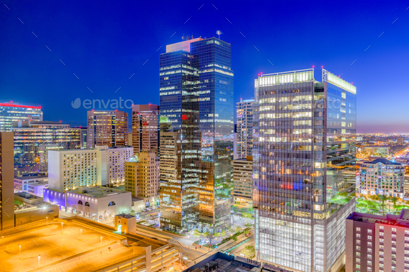 Phoenix, Arizona, USA Cityscape - Stock Photo - Images