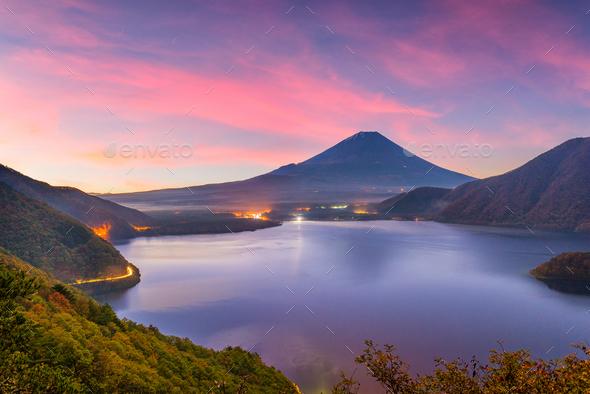 Mt. Fuji, Japan Autumn - Stock Photo - Images