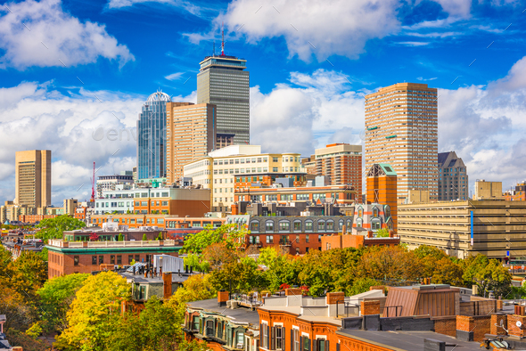 Boston, Massachusetts, USA Cityscape - Stock Photo - Images