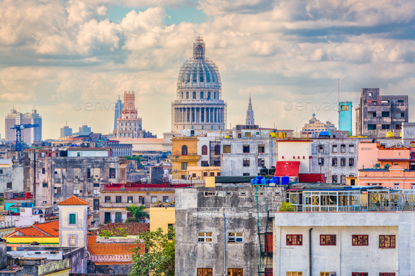 Havana, Cuba Skyline - Stock Photo - Images