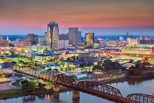 Shreveport, Louisiana, USA Skyline - Stock Photo - Images
