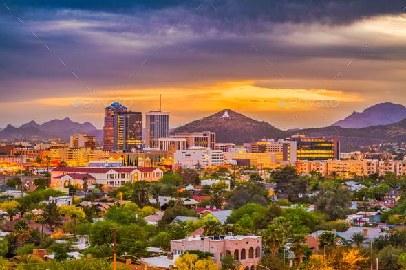 Tucson, Arizona, USA Skyline - Stock Photo - Images