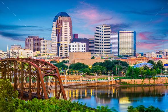 Shreveport, Louisiana, USA Skyline - Stock Photo - Images