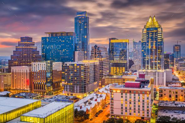 Austin, Texas, USA Cityscape - Stock Photo - Images