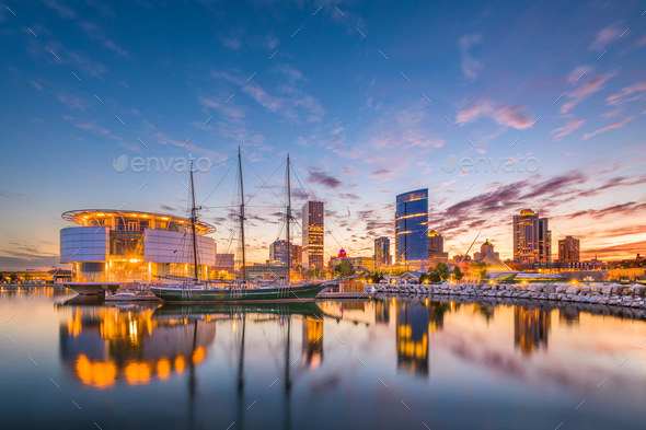 Milwaukee, Wisconsin, USA Skyline - Stock Photo - Images