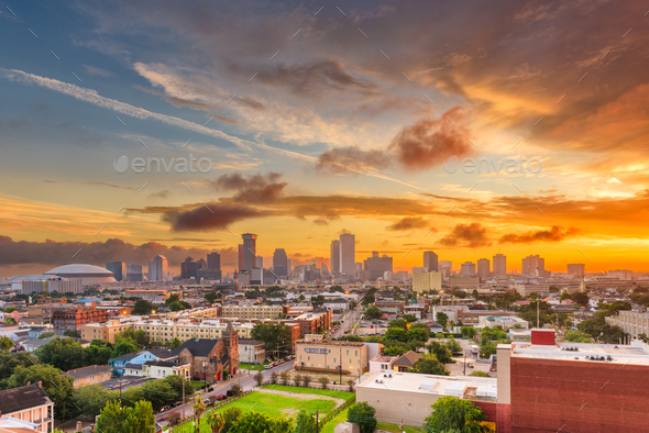 New Orleans, Louisiana, USA CBD Skyline - Stock Photo - Images