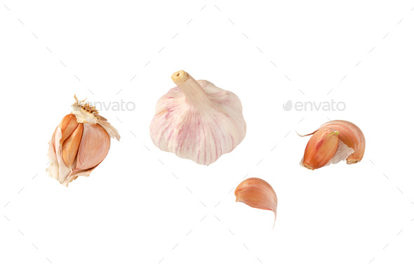 bulb and cloves of garlic - Stock Photo - Images