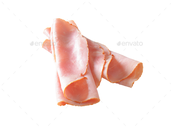 Baked ham slices - Stock Photo - Images