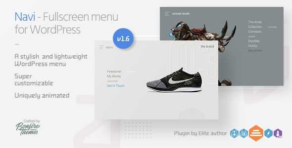 Navi: Fullscreen WordPress Menu - CodeCanyon Item for Sale
