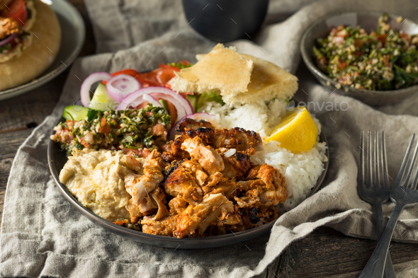 Homemade Doner Kebab Plate - Stock Photo - Images