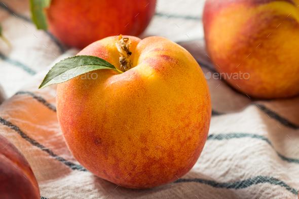 Raw Organic Orange Peaches - Stock Photo - Images