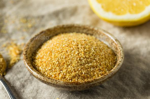 Raw Dry Organic Lemon Rind Zest - Stock Photo - Images