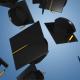 Square Academic Graduation Caps Falling Down - VideoHive Item for Sale