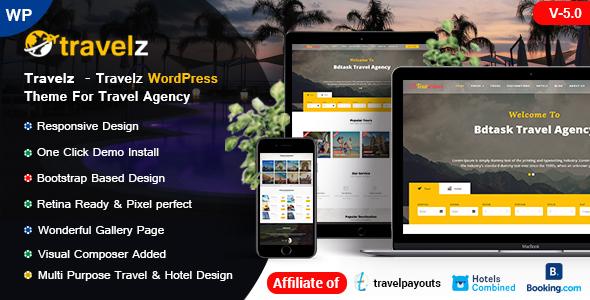 Travelz - Travel WordPress Theme for Tour Agency - Travel Retail