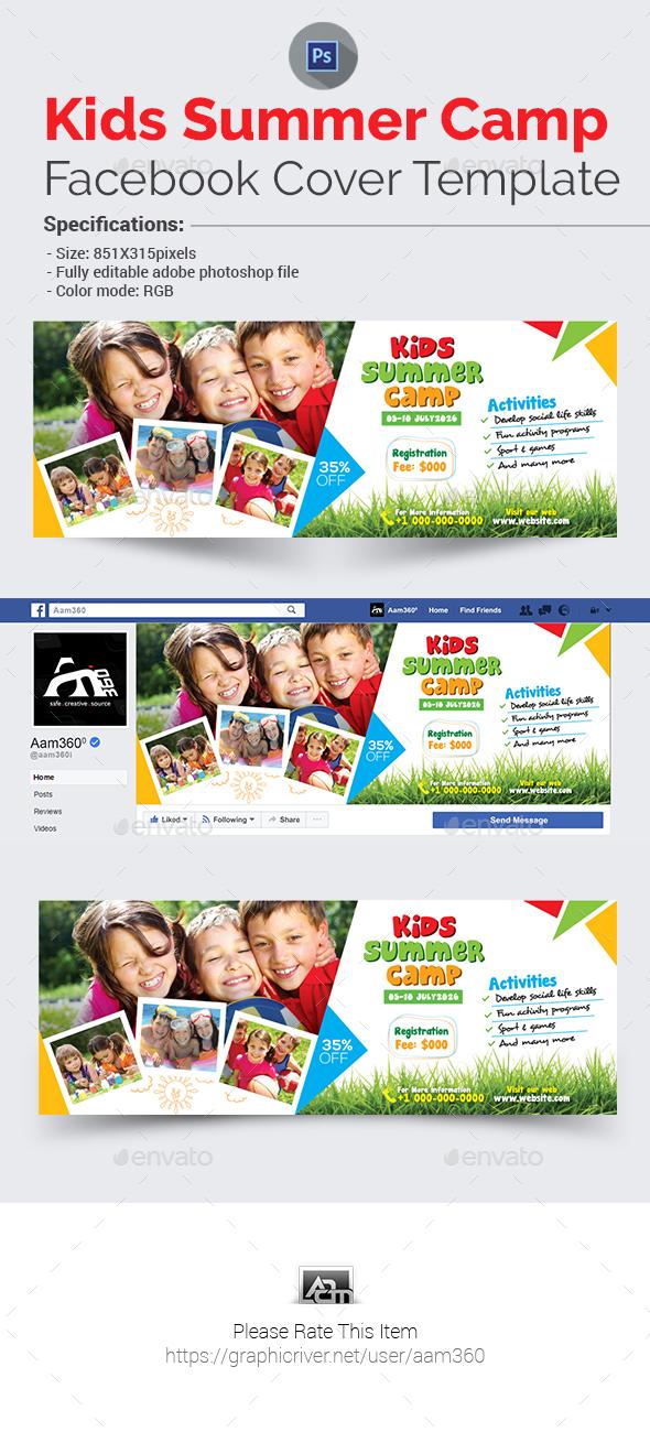 Kids Summer Camp Facebook Cover - Facebook Timeline Covers Social Media