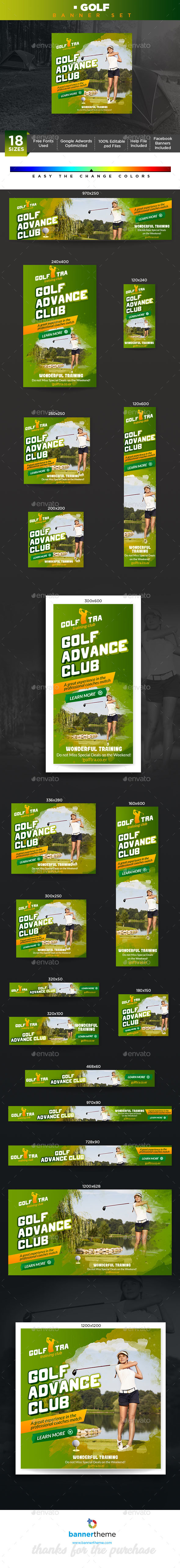 Golf Banner - Banners & Ads Web Elements