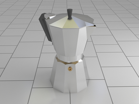 Espresso pot - 3DOcean Item for Sale