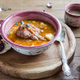 Goulash soup with meat and potatoes, close view, rustic style - PhotoDune Item for Sale