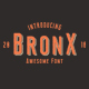 Bronx Awesome Font