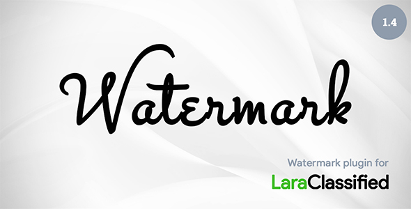 Watermark Plugin for LaraClassified - CodeCanyon Item for Sale