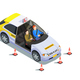 Instructor Car Isometric Composition