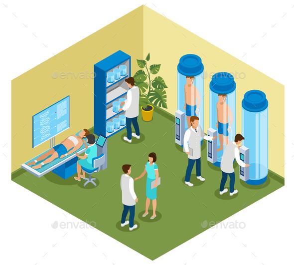 Futuristic Medicine Isometric Composition - Health/Medicine Conceptual