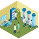Futuristic Medicine Isometric Composition
