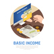 Basic Income Isometric Composition