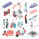 Diabetes Treatment Isometric Set