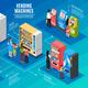 Vending Machines Isometric Infographics
