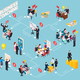 Business Coaching Isometric Flowchart - GraphicRiver Item for Sale