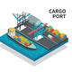Cargo Port Isometric Composition