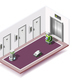 Robotized Hotels Isometric Composition