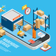Logistics Isometric Concept - GraphicRiver Item for Sale