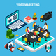 Video Marketing Isometric Composition