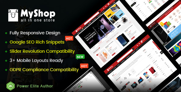 MyShop - Top Multipurpose OpenCart 3 Theme (3+ Mobile Layouts Included) - OpenCart eCommerce