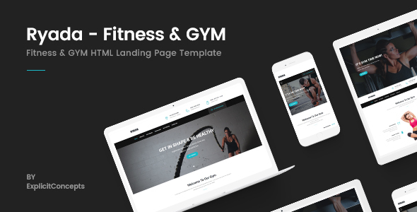 Image of Ryada - Fitness & GYM HTML Landing Page Template
